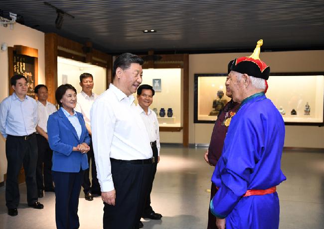 """习近平在内蒙古考察并指导开展""""不忘初心、牢记使命""""主题教..."""