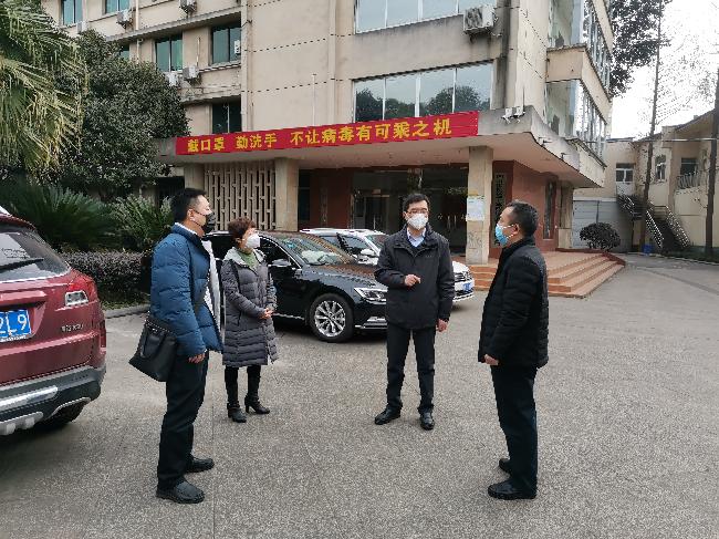 四川测绘地理信息局疫情防控工作组到四川省第三测绘工程院检查复工前疫情防控工作。