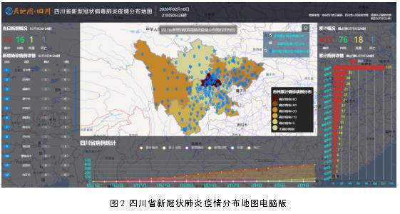四川省新冠肺炎疫情分布地图系统上线运行